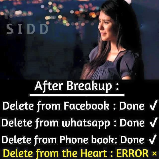 after breakup facebook image share