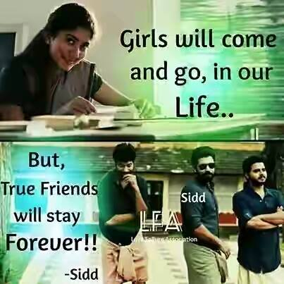 Girls Will Come and Go In Our Life