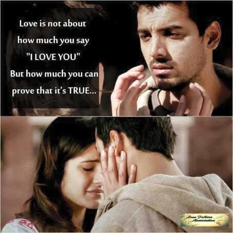 One Sided Love Quotes For Facebook : Love Is Not About How Much You Say I Love You