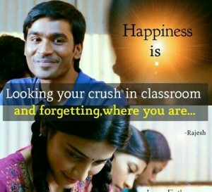 Happiness Is Looking Your Crush In Classroom