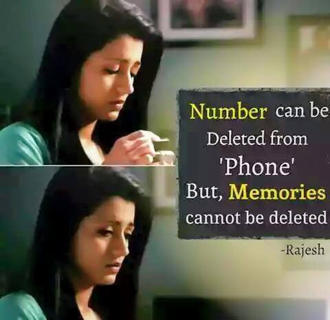 Number Can Be Deleted From Phone But Memories
