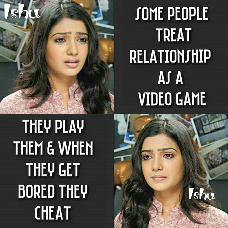 Some People Treat Relationship As A Video Game