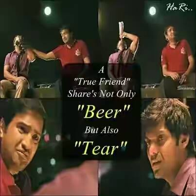 A True Friend Share's Not Only Beer But Also Tear