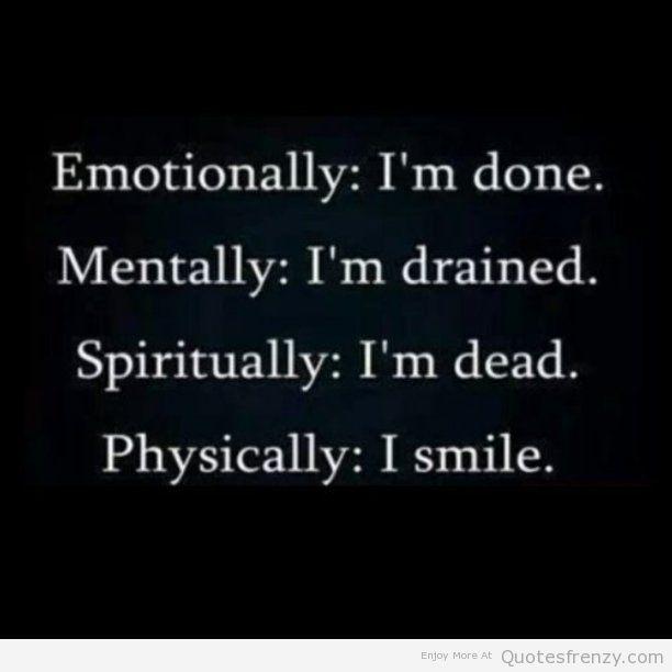 Sad Depressed Mentally Emotion Quotes