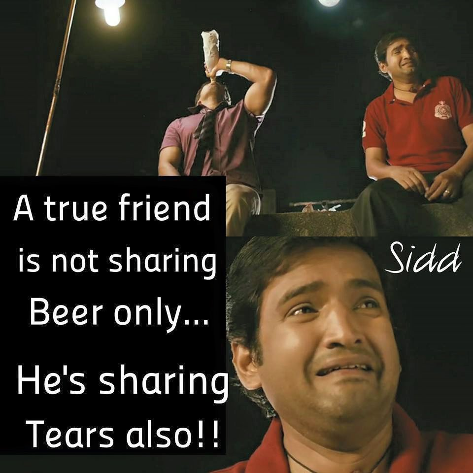A True Friend Is Not Sharing Beer Only
