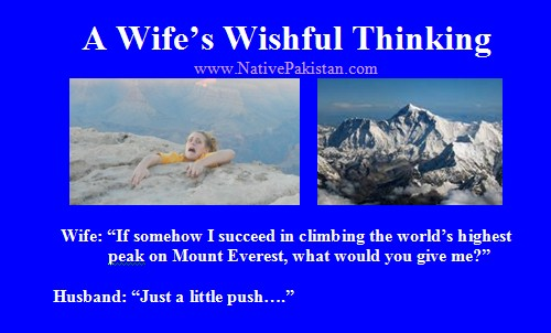 A Wife's Wishful Thinking