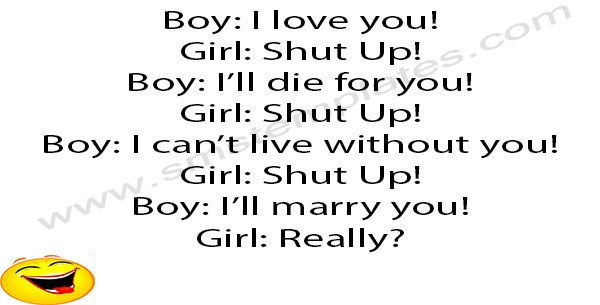 Boy and Girl Love Funny Joke