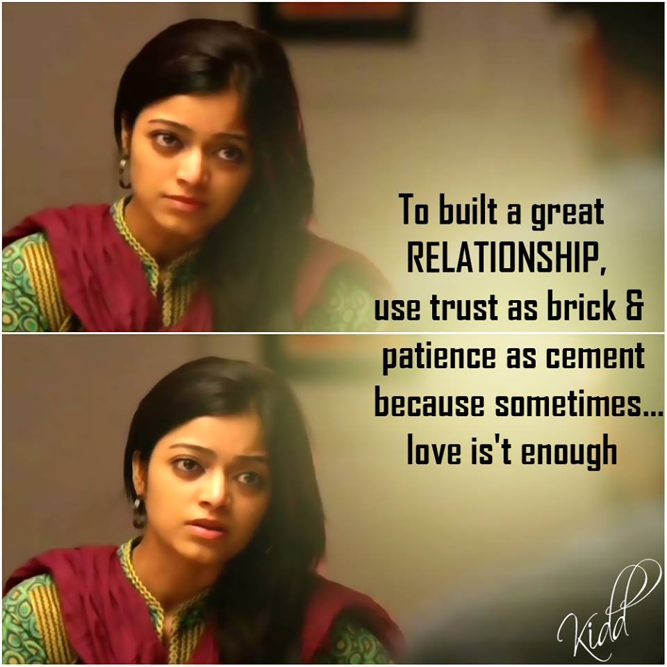 To Built A Great Relationship Use Trust As Brick