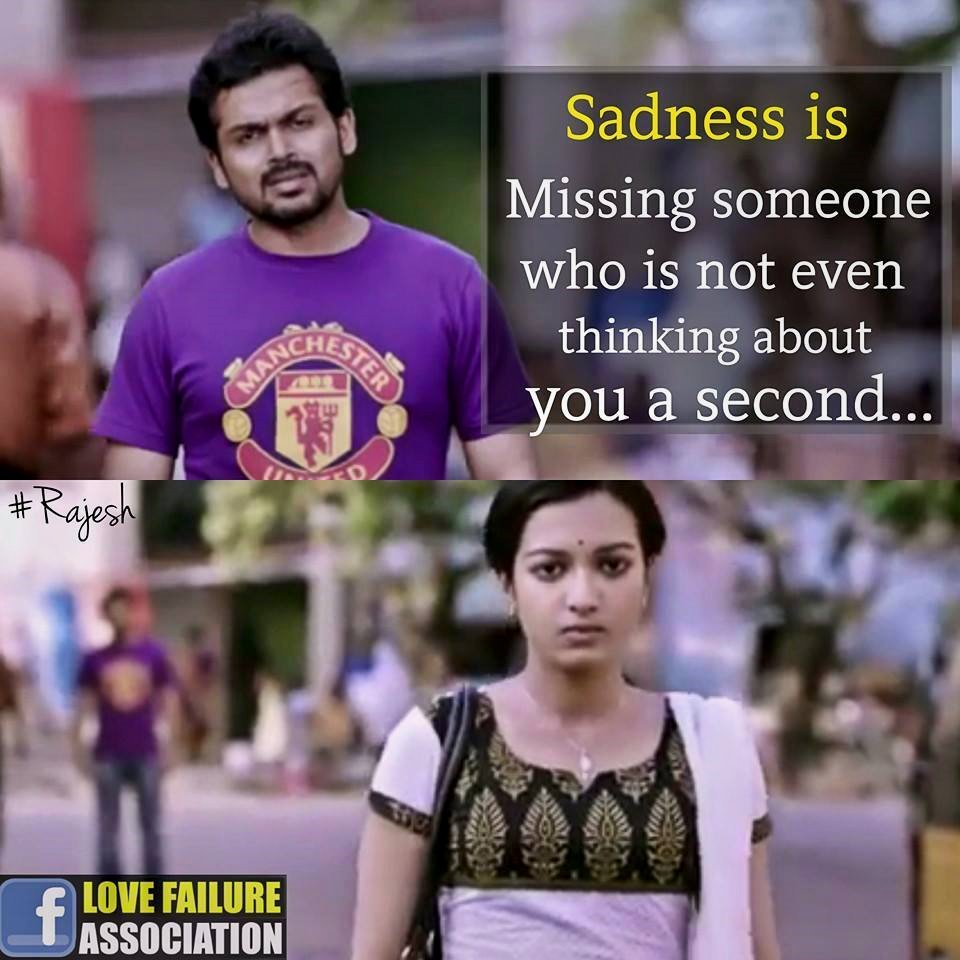 Sadness Is Missing Someone