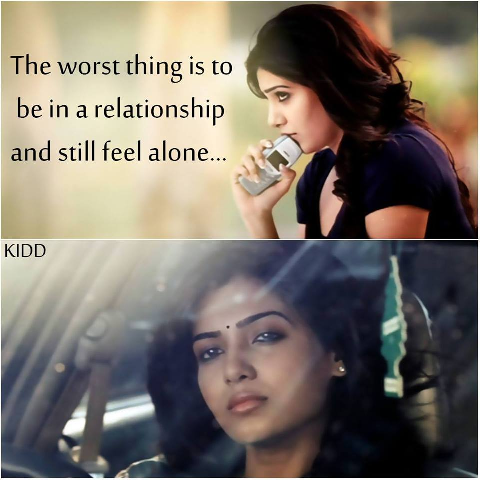 The Worst Thing Is To Be In A Relationship and Still Feel Alone