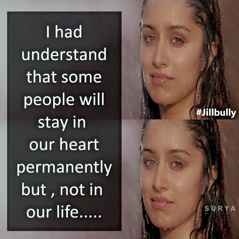 I Had Understand That Some People Will Stay In Our Heart