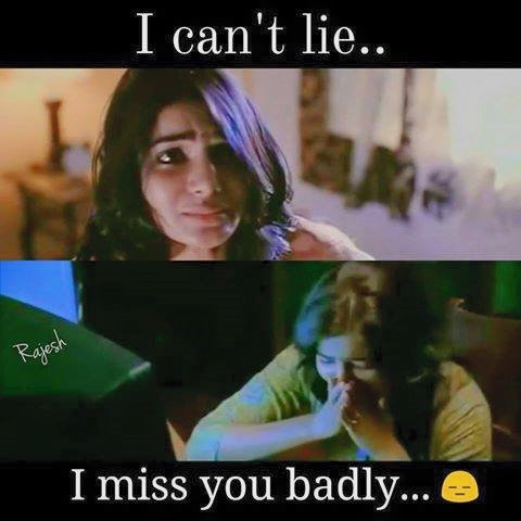 I Can't Lie I Miss You Badly